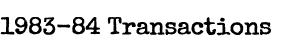1983-84 Transactions