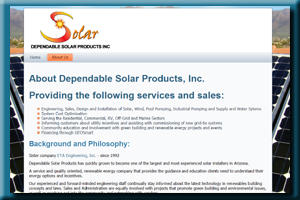 Dependable Solar Products - Arizona's Leader